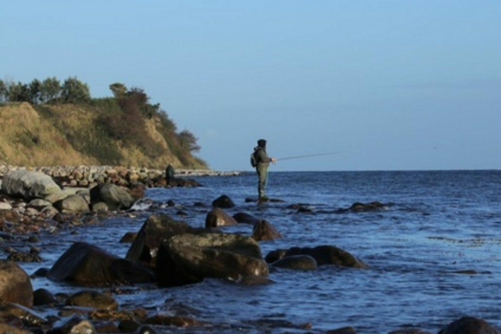 Fliegenfischen im Angelurlaub Dänemark bei Denmark Fishing Lodge